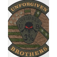 Unforgiven Brothers Back Patch Subdued