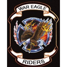 War Eagle Ridersl Back Patch