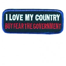 I Love my Country but Fear the govenment patch